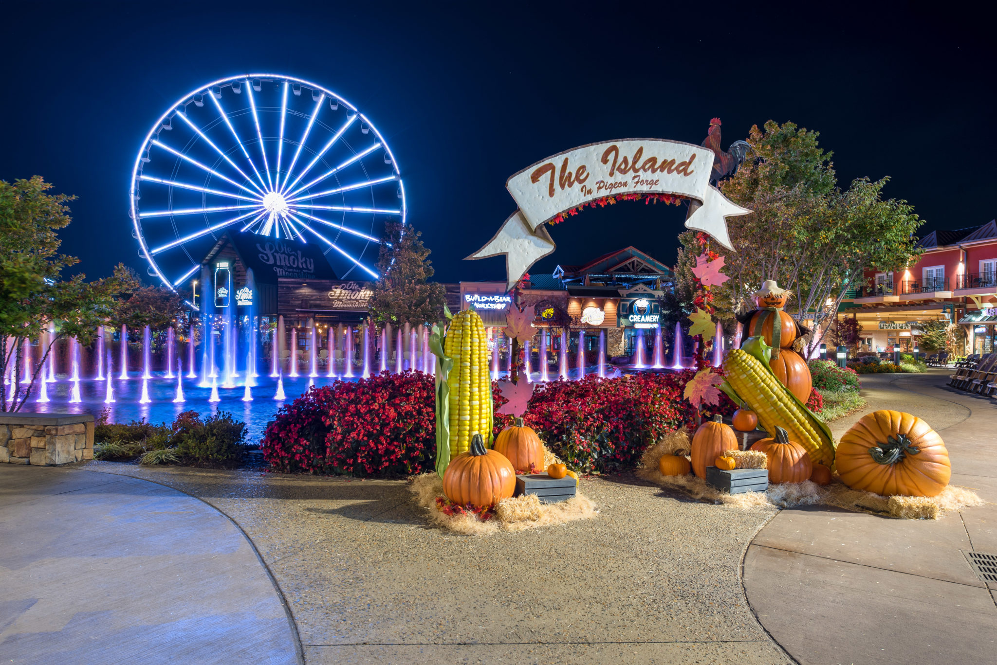 Image result for fall at the island pigeon forge