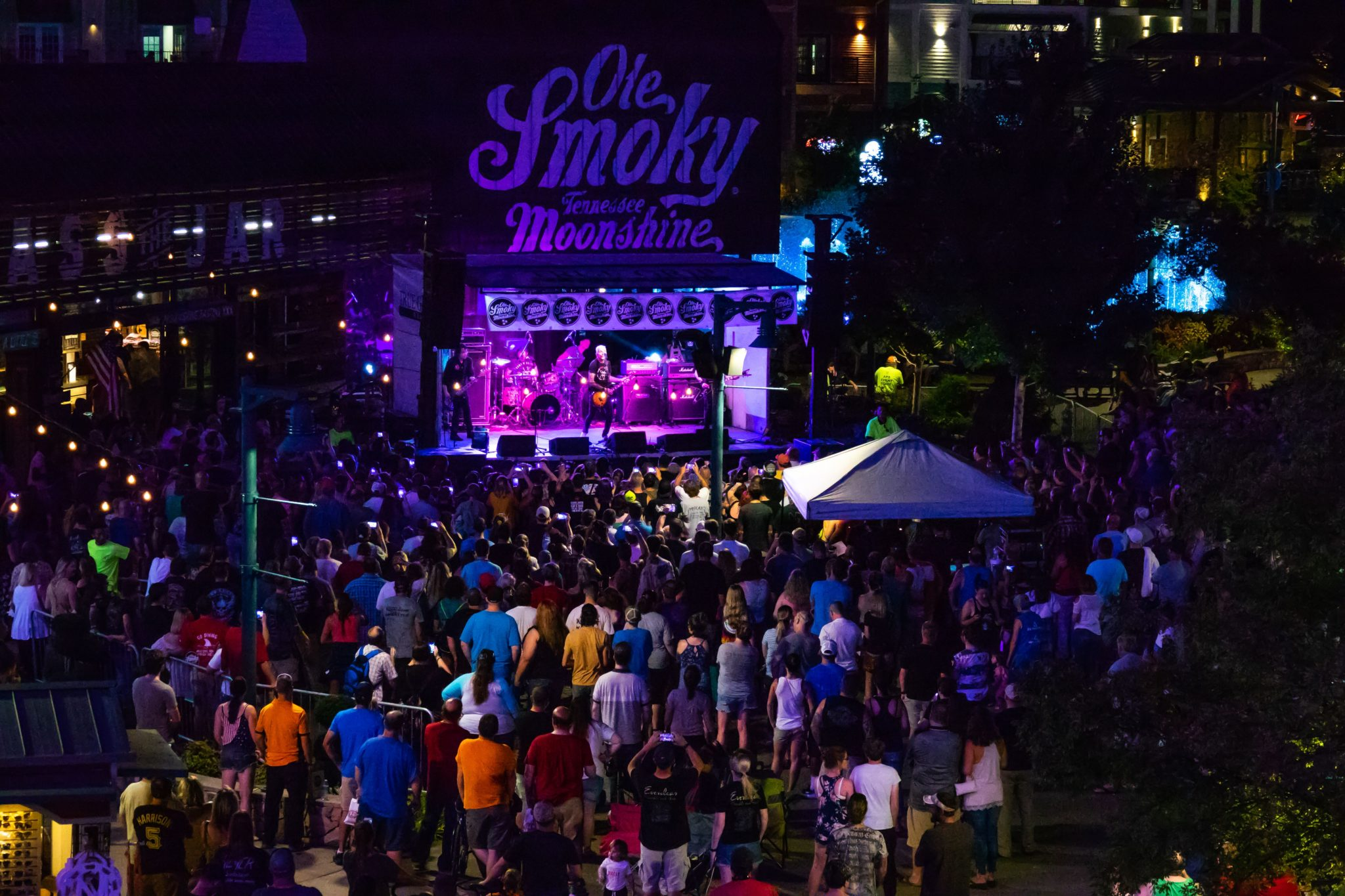 Vertical Horizon band performing on the Ole Smoky stage