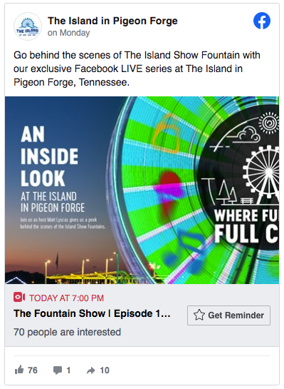 "Watch ""Where Fun Comes Full Circle"" Live on Facebook!"